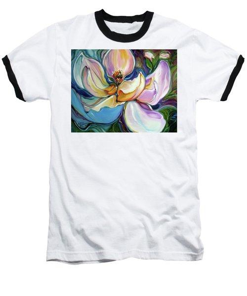 Sweet Magnoli Floral Abstract Baseball T-Shirt