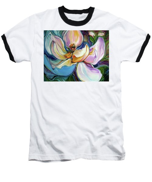 Sweet Magnoli Floral Abstract Baseball T-Shirt