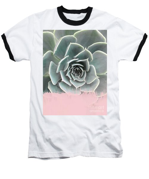 Sweet Pink Paint On Succulent Baseball T-Shirt