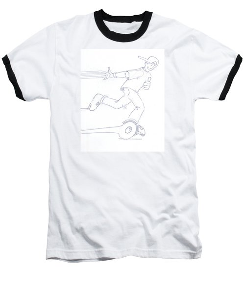 Swegway Hoverboard Fun Cartoon Baseball T-Shirt