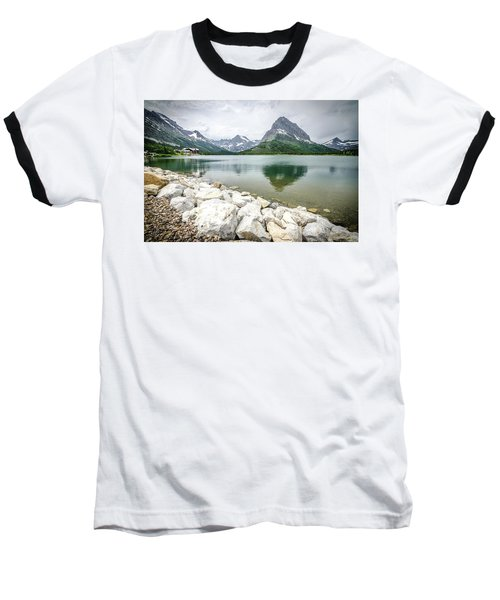 Swiftcurrent Lake Baseball T-Shirt