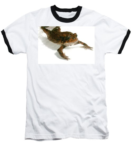 Baseball T-Shirt featuring the digital art Swimming Toad by Barbara S Nickerson