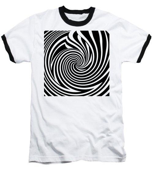 Swirl Op Art Baseball T-Shirt by Methune Hively