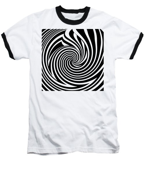 Swirl Op Art Baseball T-Shirt