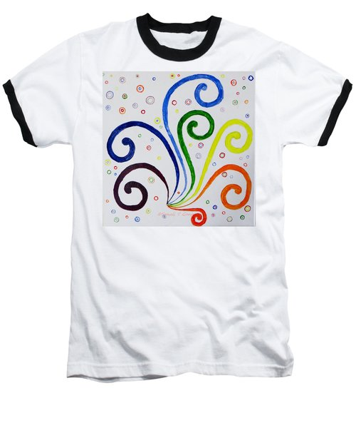 Swirls Baseball T-Shirt