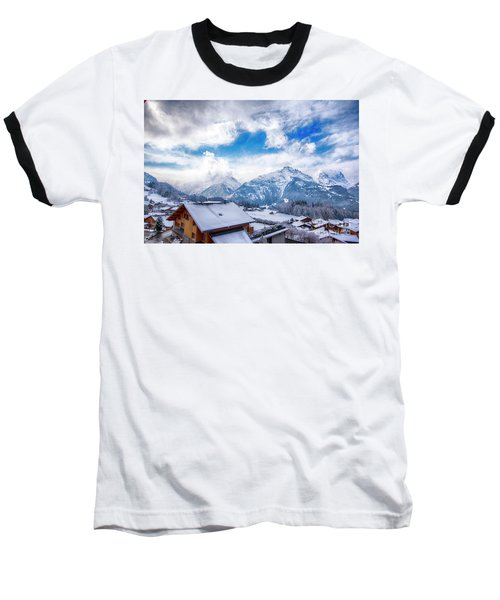 Swiss Alps Baseball T-Shirt
