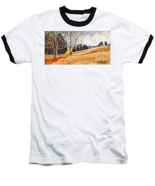 Baseball T-Shirt featuring the painting Switchboard Rd by Katherine Miller