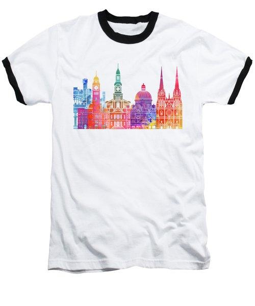 Sydney  Landmarks Watercolor Poster Baseball T-Shirt