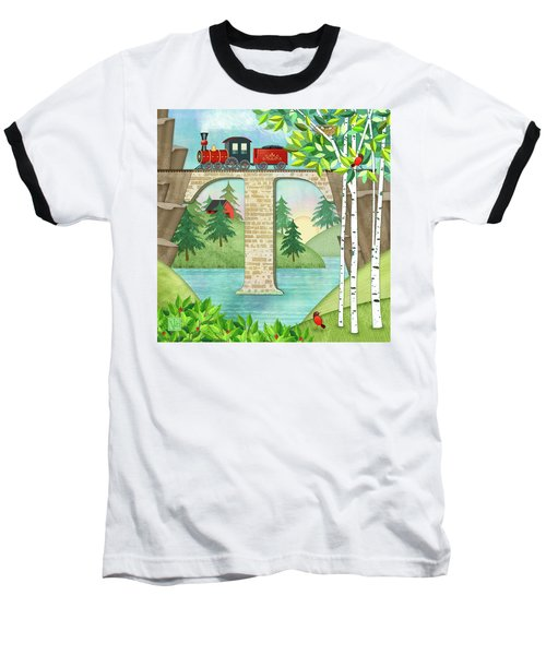 T Is For Train And Train Trestle Baseball T-Shirt