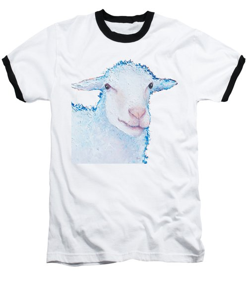 T-shirt With Sheep Design Baseball T-Shirt by Jan Matson