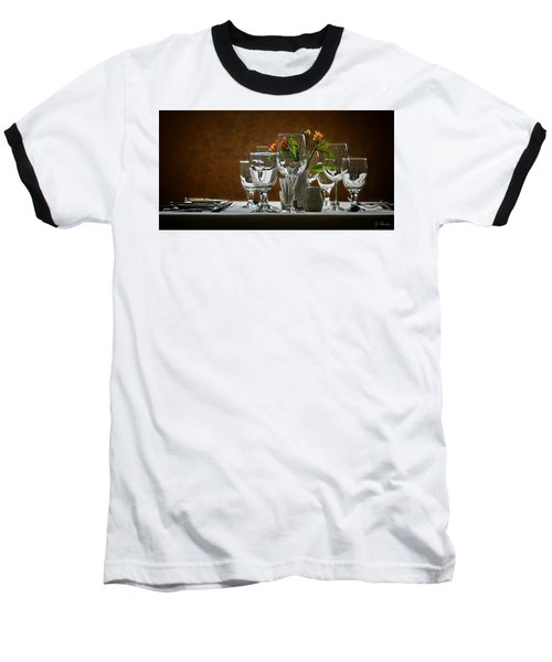 Baseball T-Shirt featuring the photograph Table Setting by Joe Bonita