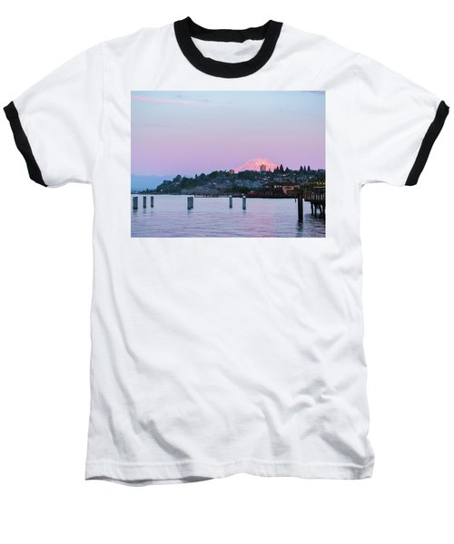 Baseball T-Shirt featuring the photograph Tacoma Sunset by Ken Stanback