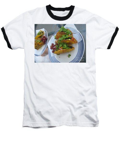 Baseball T-Shirt featuring the photograph Tacos Almost Mirrored by Marie Neder