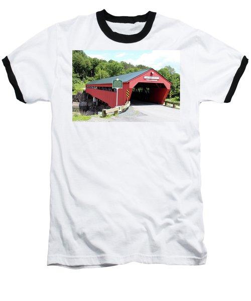 Taftsville Covered Bridge Baseball T-Shirt