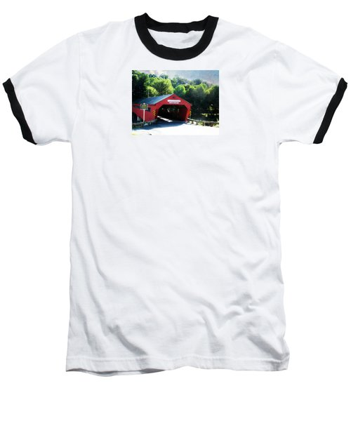 Baseball T-Shirt featuring the photograph Taftsville Covered Bridge by Robin Regan