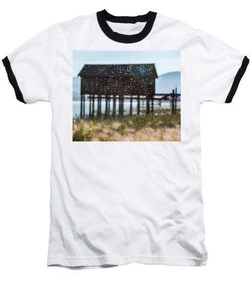 Tahoe Boat House Flies Baseball T-Shirt