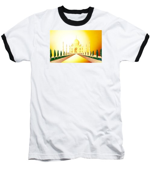 Taj  Mahal Baseball T-Shirt by Hartmut Jager