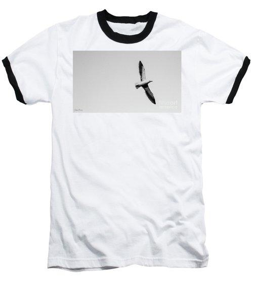 Take Flight, Black And White Baseball T-Shirt