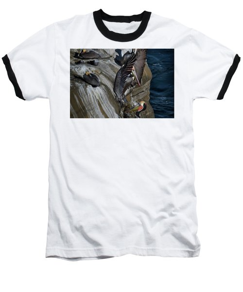 Takeoff Baseball T-Shirt by James David Phenicie