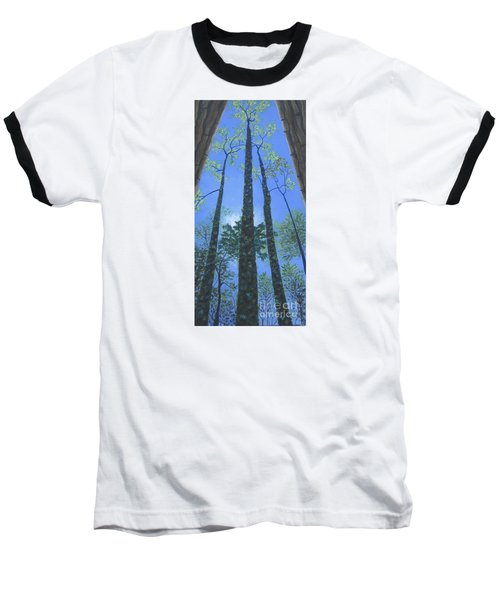 Tall Blue Ridge Beauty Baseball T-Shirt by Anne Marie Brown