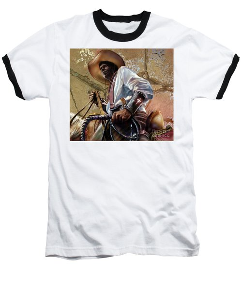 Tall In The Saddle Cowboy Pride 1a Baseball T-Shirt