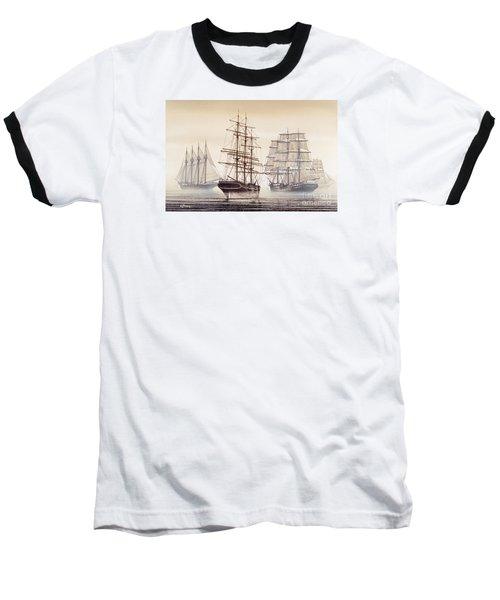 Tall Ships Baseball T-Shirt by James Williamson