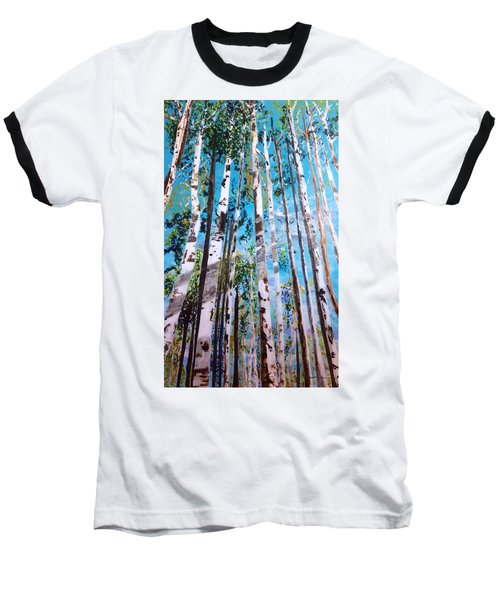 Baseball T-Shirt featuring the painting Tall Whites by Patti Ferron