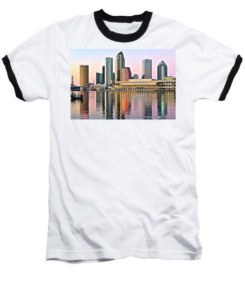 Tampa In Vivid Color Baseball T-Shirt by Frozen in Time Fine Art Photography