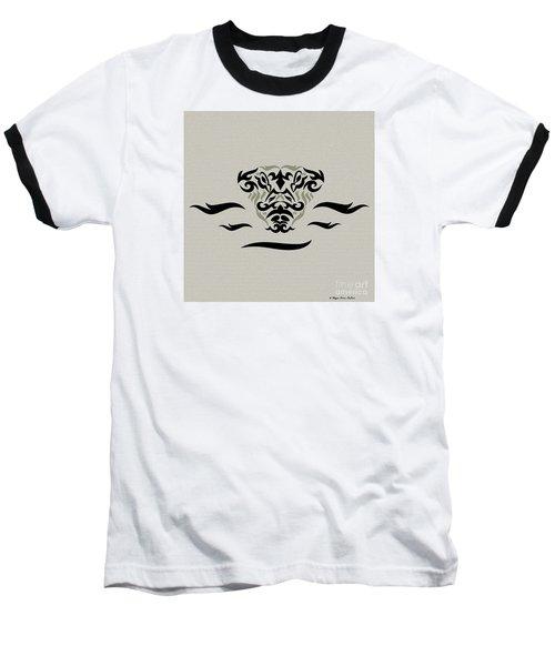 Baseball T-Shirt featuring the digital art Tan Tribal Gator by Megan Dirsa-DuBois