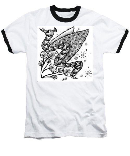 Tangled Serpent Baseball T-Shirt by Jan Steinle