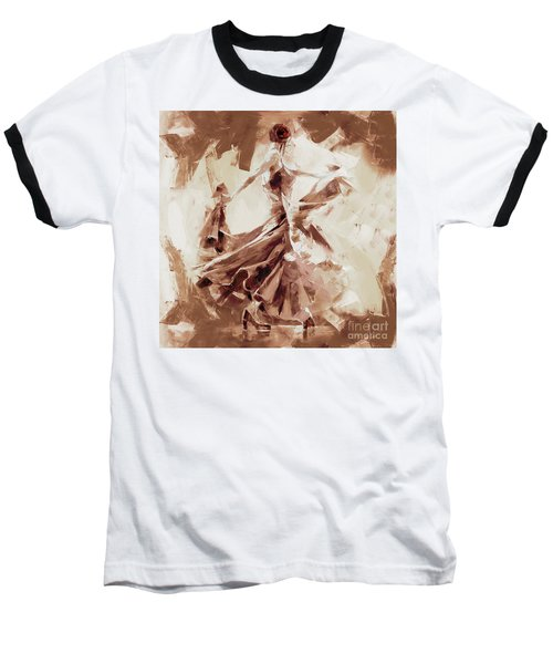 Baseball T-Shirt featuring the painting Tango Dance 9910j by Gull G