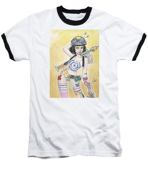 Tank Girl Baseball T-Shirt by Jimmy Adams