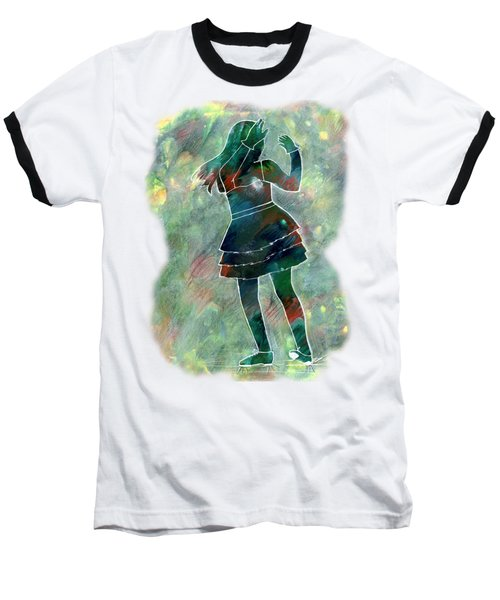 Tap Dancer 1 - Green Baseball T-Shirt