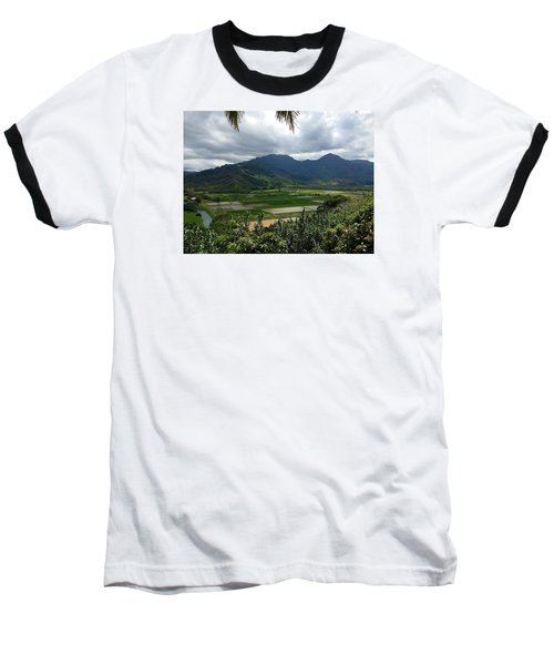 Taro Fields On Kauai Baseball T-Shirt by Brenda Pressnall