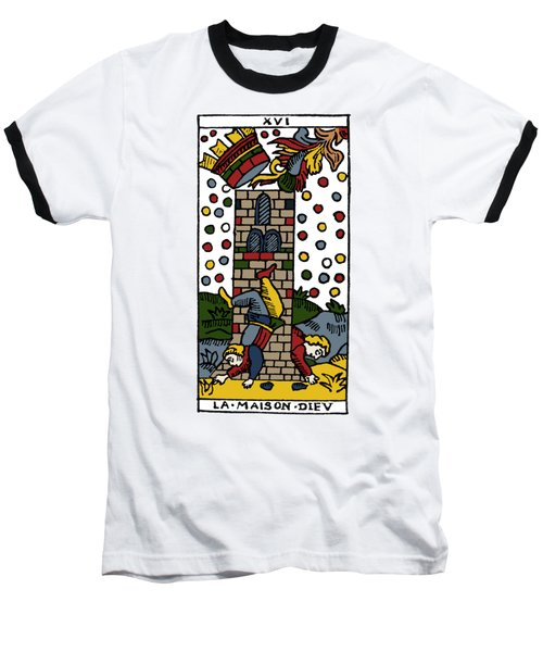 Tarot Card Poorhouse Baseball T-Shirt by Granger