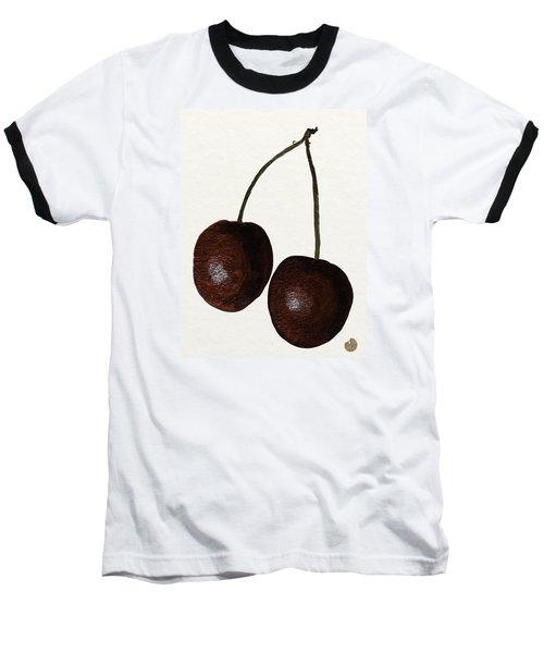 Tasty Red Cherries Baseball T-Shirt