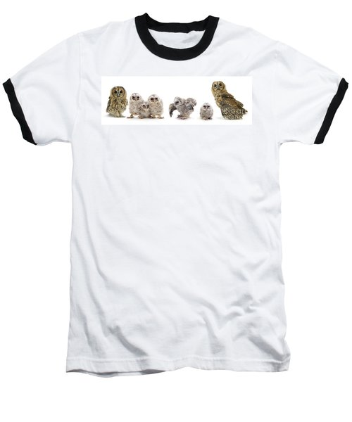 Tawny Owl Family Baseball T-Shirt