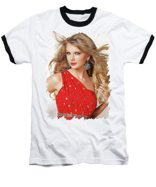 Taylor Swift Baseball T-Shirt by Twinkle Mehta