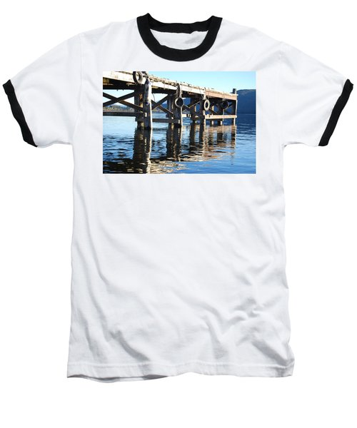 Baseball T-Shirt featuring the photograph Te Anau Pier by Jocelyn Friis