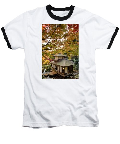 Baseball T-Shirt featuring the photograph Tea Ceremony Room by Tad Kanazaki