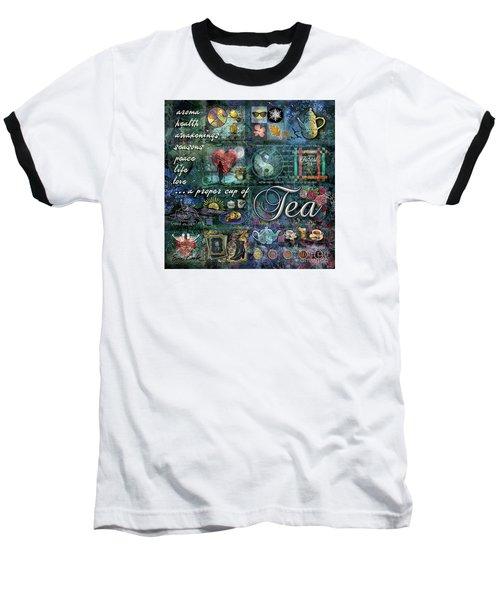 Baseball T-Shirt featuring the digital art Tea by Evie Cook