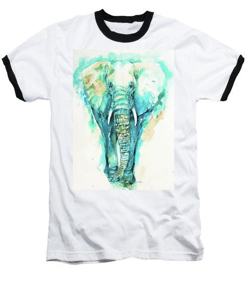 Teal N Turquoise Elephant Baseball T-Shirt