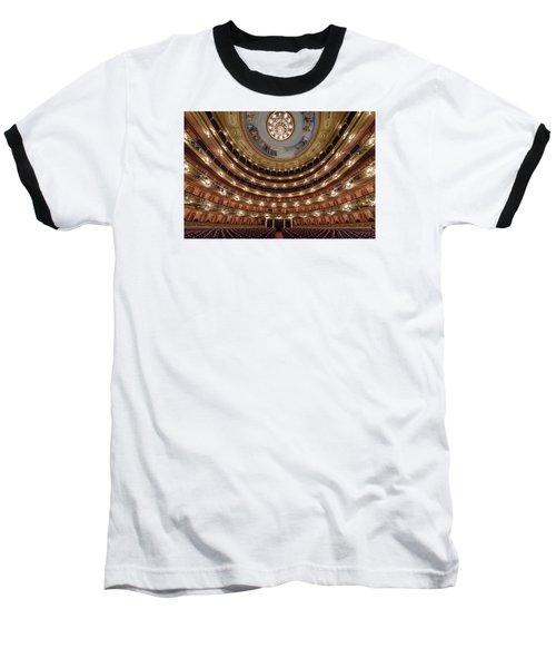 Teatro Colon Performers View Baseball T-Shirt by Randy Scherkenbach