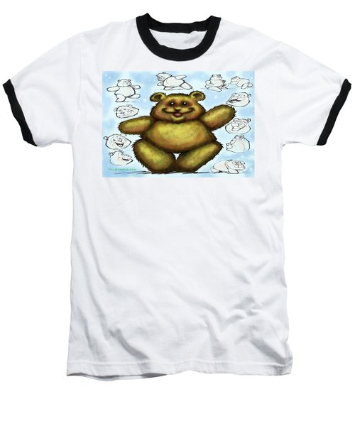 Baseball T-Shirt featuring the painting Teddy Bear by Kevin Middleton