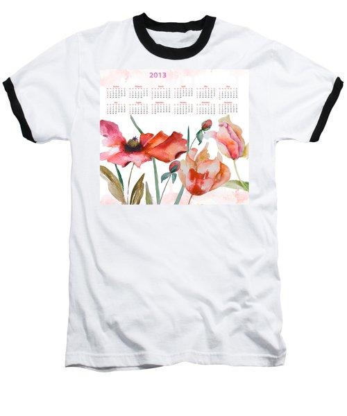 Template For Calendar 2013 Baseball T-Shirt