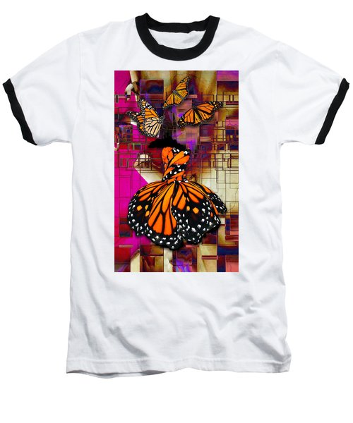 Baseball T-Shirt featuring the mixed media Tenderly by Marvin Blaine