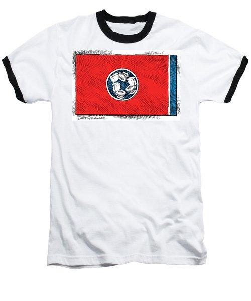 Tennessee Bathroom Flag Baseball T-Shirt