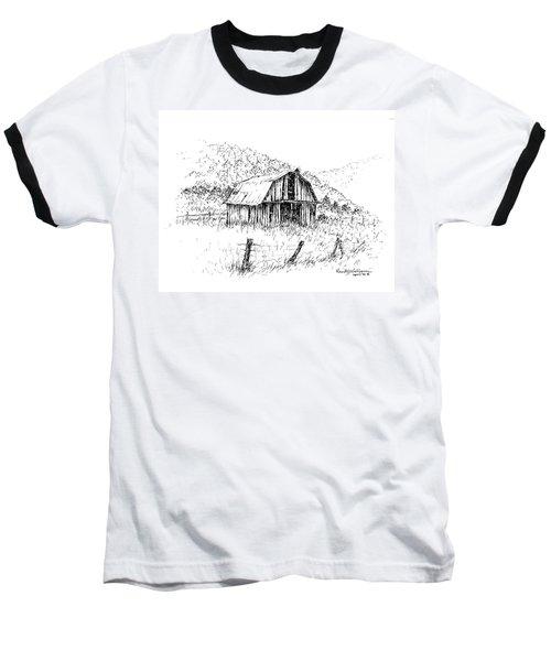 Tennessee Hills With Barn Baseball T-Shirt