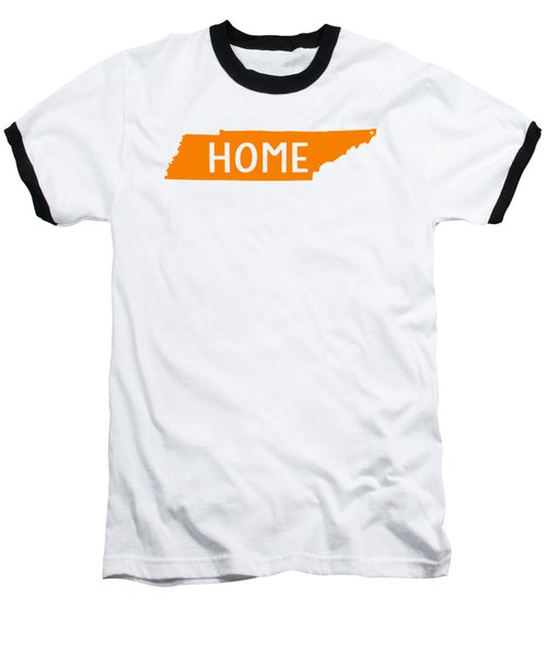 Baseball T-Shirt featuring the digital art Tennessee Home Orange by Heather Applegate