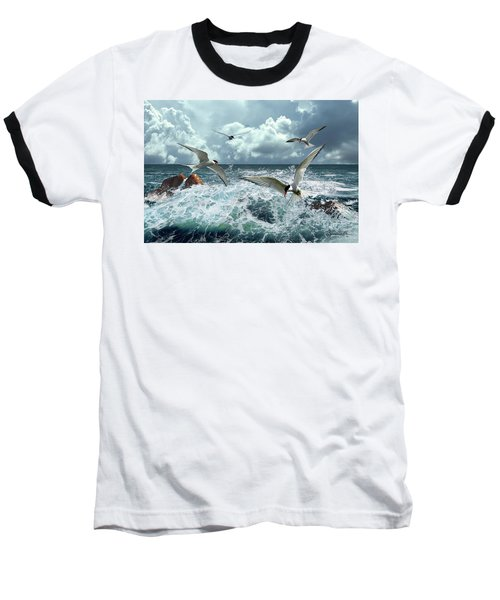 Terns In The Surf Baseball T-Shirt